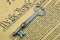 De Sleutel van de grondwet Stock Foto's