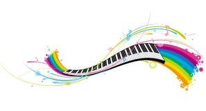 De sleutel van de piano Stock Foto