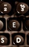 De sleutel van de schrijfmachine Stock Afbeeldingen