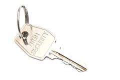 De sleutel van de staaldeur Royalty-vrije Stock Afbeelding