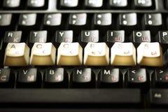 De sleutel van de toetsenbordtoegang Royalty-vrije Stock Foto