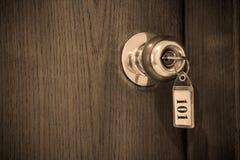 De sleutel van het hotel Stock Fotografie