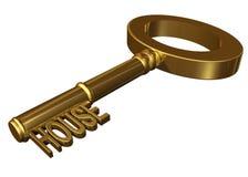 De sleutel van het huis Royalty-vrije Stock Afbeeldingen