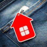 De sleutel van het huis Stock Afbeeldingen