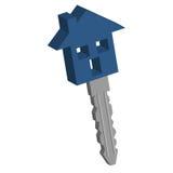 De sleutel van het huis Stock Foto's