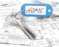 De Sleutel van het huisproject Stock Afbeelding