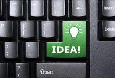 De sleutel van het idee stock afbeelding