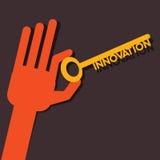 De sleutel van het innovatiewoord Stock Afbeelding