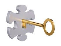 De sleutel van het raadsel Stock Foto's