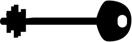 De Sleutel van het silhouet Stock Afbeelding