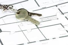 De sleutel van het veiligheidshuis Stock Foto