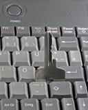 De sleutel van het wachtwoord op computertoetsenbord Stock Afbeeldingen