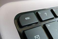 De Sleutel van de vlucht op toetsenbord Stock Foto's