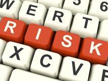 De Sleutels die van de Computer van het risico Risico en Onzekerheid tonen Royalty-vrije Stock Fotografie