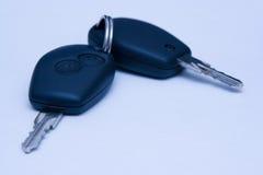 De sleutels van de auto stock foto's