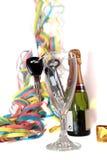 De sleutels van de auto binnen champagnefluit Royalty-vrije Stock Foto's