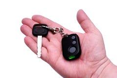 De sleutels van de auto en het systeem van het afstandsbedieningalarm Royalty-vrije Stock Afbeeldingen