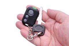 De sleutels van de auto en het systeem van het afstandsbedieningalarm Stock Afbeeldingen