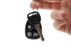 De Sleutels van de auto en Ver Stock Foto