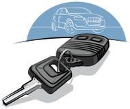 De sleutels van de auto en ver stock illustratie