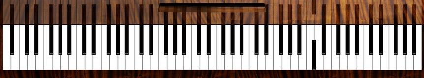 De sleutels van de Couriouspiano Stock Afbeeldingen