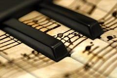 De sleutels van de Grungemuziek royalty-vrije stock fotografie