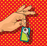 De sleutels van de holding Royalty-vrije Stock Foto's