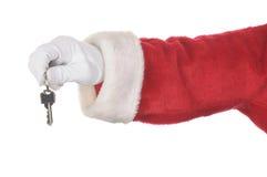 De Sleutels van de Holding van de kerstman Royalty-vrije Stock Fotografie