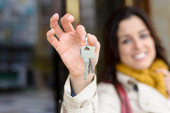 De sleutels van de huiseigenaar Royalty-vrije Stock Afbeelding