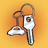 De sleutels van de Keychainauto vector illustratie