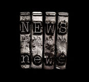 De sleutels van de nieuwsschrijfmachine Royalty-vrije Stock Afbeeldingen