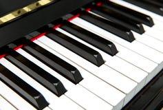 De sleutels van de piano Stock Foto's
