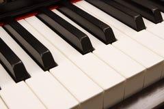 De sleutels van de piano stock foto