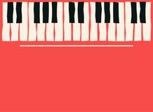 De sleutels van de piano Het malplaatje van de muziekaffiche Jazz en van de blauwmuziek overlegachtergrond Stock Foto