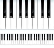 De sleutels van de piano. Naadloze illustratie. Royalty-vrije Stock Fotografie