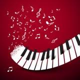 De sleutels van de piano Toetsenbord met Nota's vector illustratie