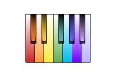 De Sleutels van de Piano van de kleur Stock Foto