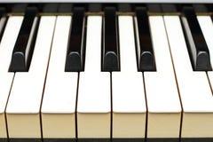 De sleutels van de piano van kant Stock Foto