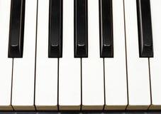 De sleutels van de piano vanaf Bovenkant Stock Afbeelding