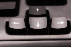 De sleutels van de pijl Stock Foto's