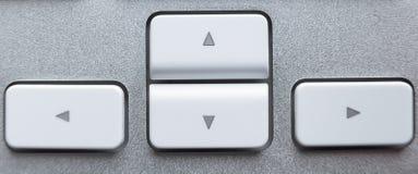 De sleutels van de pijl op toetsenbord Royalty-vrije Stock Fotografie