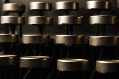 De sleutels van de schrijfmachine Stock Foto