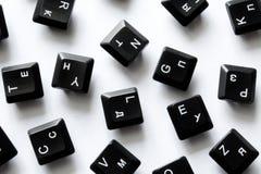 De sleutels van het computertoetsenbord stock fotografie
