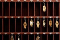 De sleutels van het hotel Stock Afbeeldingen