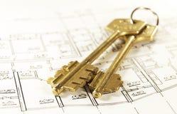 De sleutels van het huis Royalty-vrije Stock Foto's