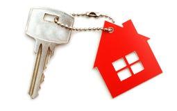 De sleutels van het huis en keychain Stock Foto