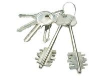 De sleutels van het metaal stock foto's