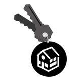 De sleutels van het onroerende goederenhuis royalty-vrije illustratie