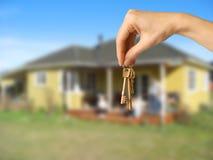 De sleutels van het plattelandshuisje Royalty-vrije Stock Fotografie