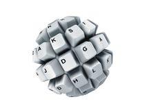 De sleutels van het toetsenbord, over geïsoleerdr wit, Royalty-vrije Stock Foto's